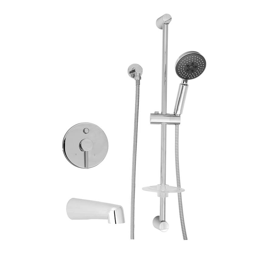 BARiL Pressure Balance Trims With Integrated Diverter Shower Faucet Trims item PRO-2212-66-GG