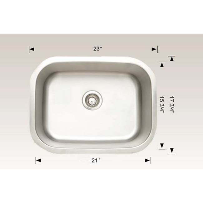 Bosco Undermount Kitchen Sinks item SKU 207033
