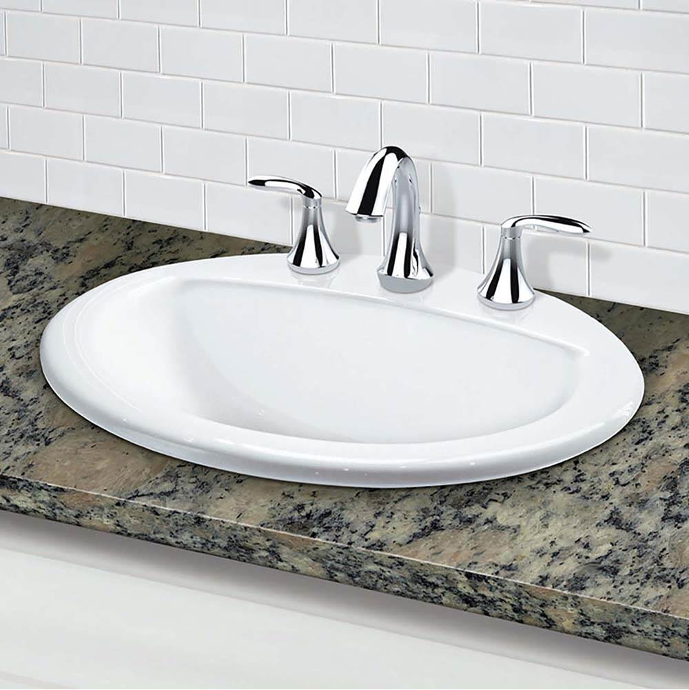 Decolav Drop In Bathroom Sinks item 1436-8-CWH