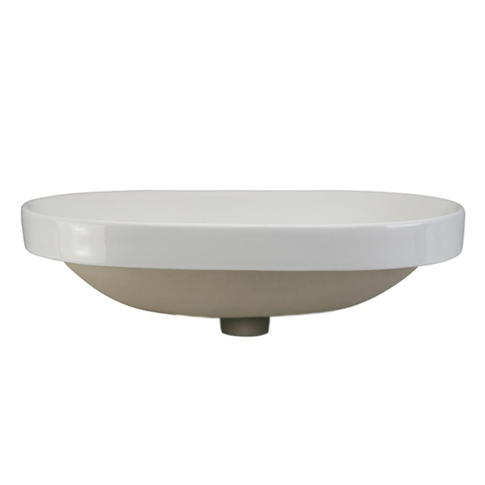 Decolav Drop In Bathroom Sinks item 1456-CWH