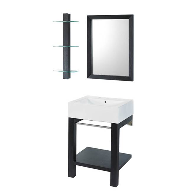 Decolav Wall Mount Vanities item 2550-8CWH-BKA