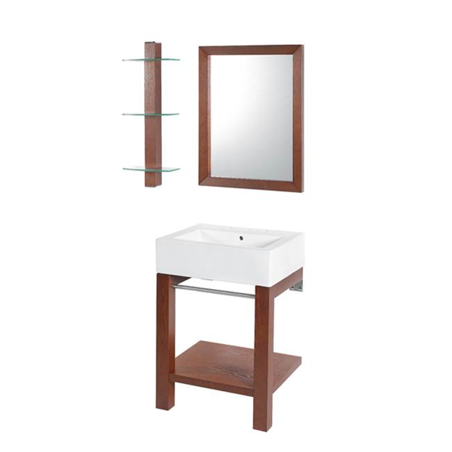 Decolav Wall Mount Vanities item 2550-8CWH-CGN
