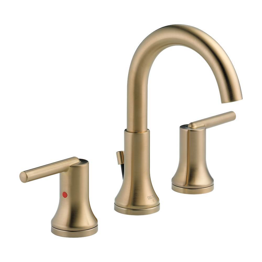 riser faucets faucet warranty includes less delta bathroom cz stainless brilliance lifetime ss assembly drain victorian single hole with waterfall