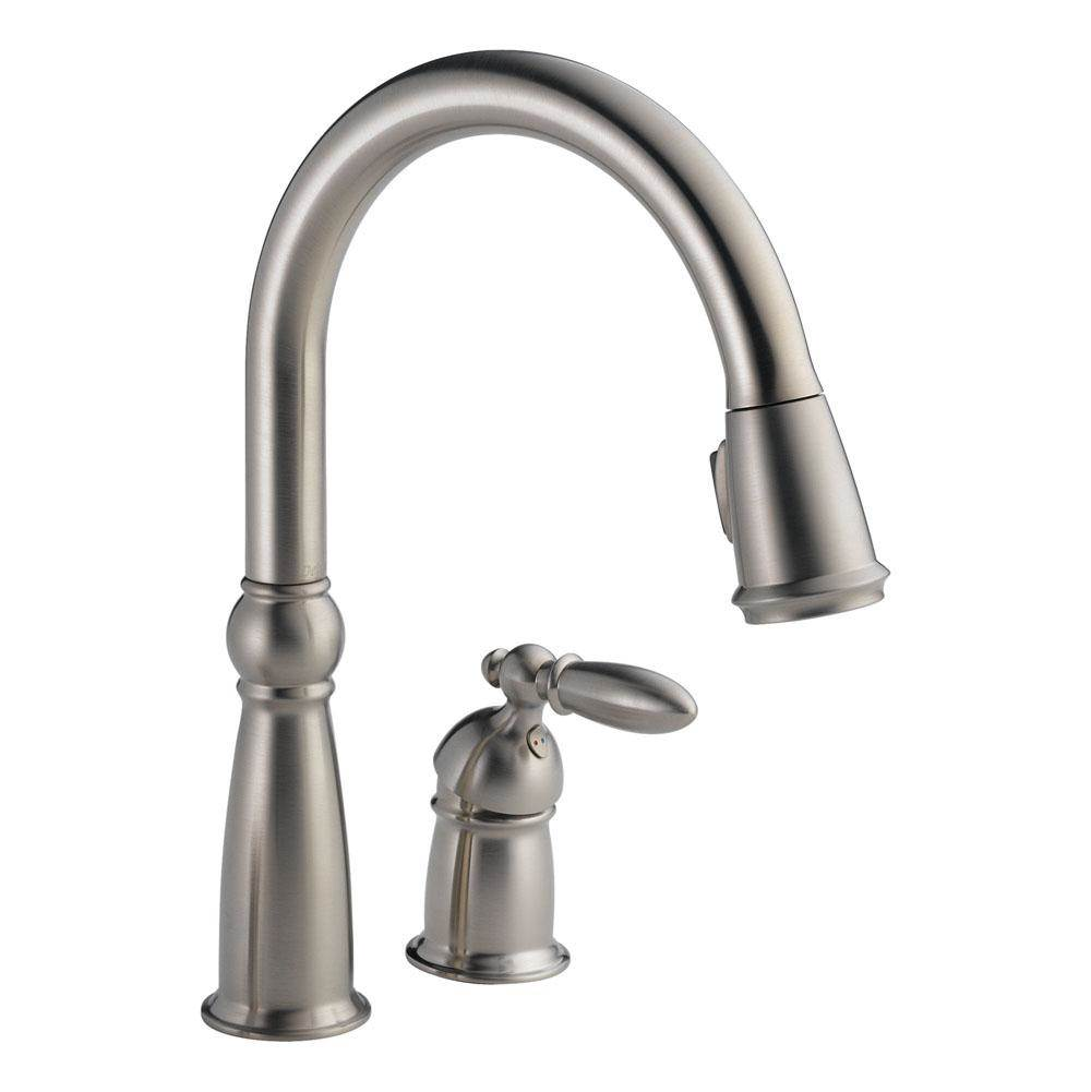 Delta Canada Single Hole Kitchen Faucets item 955-SS-DST