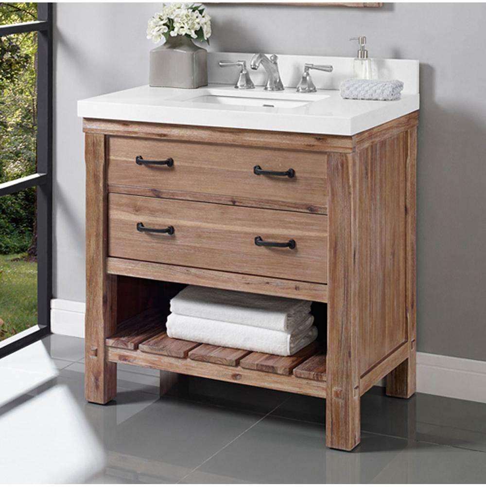 Fairmont Designs Canada Bathroom Vanities Napa The Water Closet . Open Shelf  ...