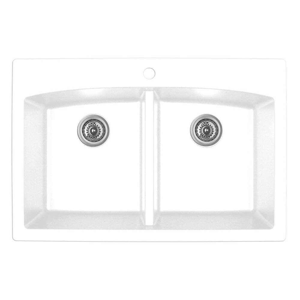 Karran Drop In Kitchen Sinks item QT710WH