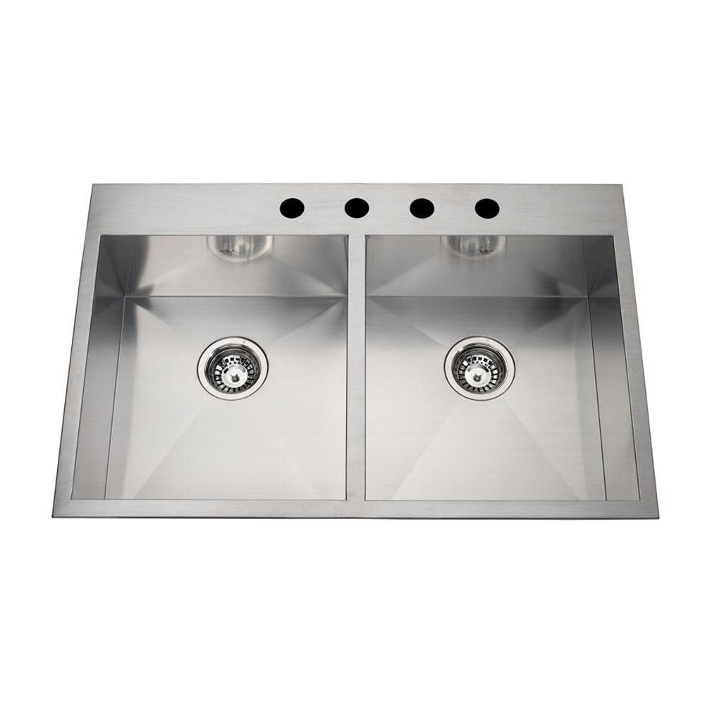 Kindred Canada Dual Mount Kitchen Sinks item QDLF2233/8-3