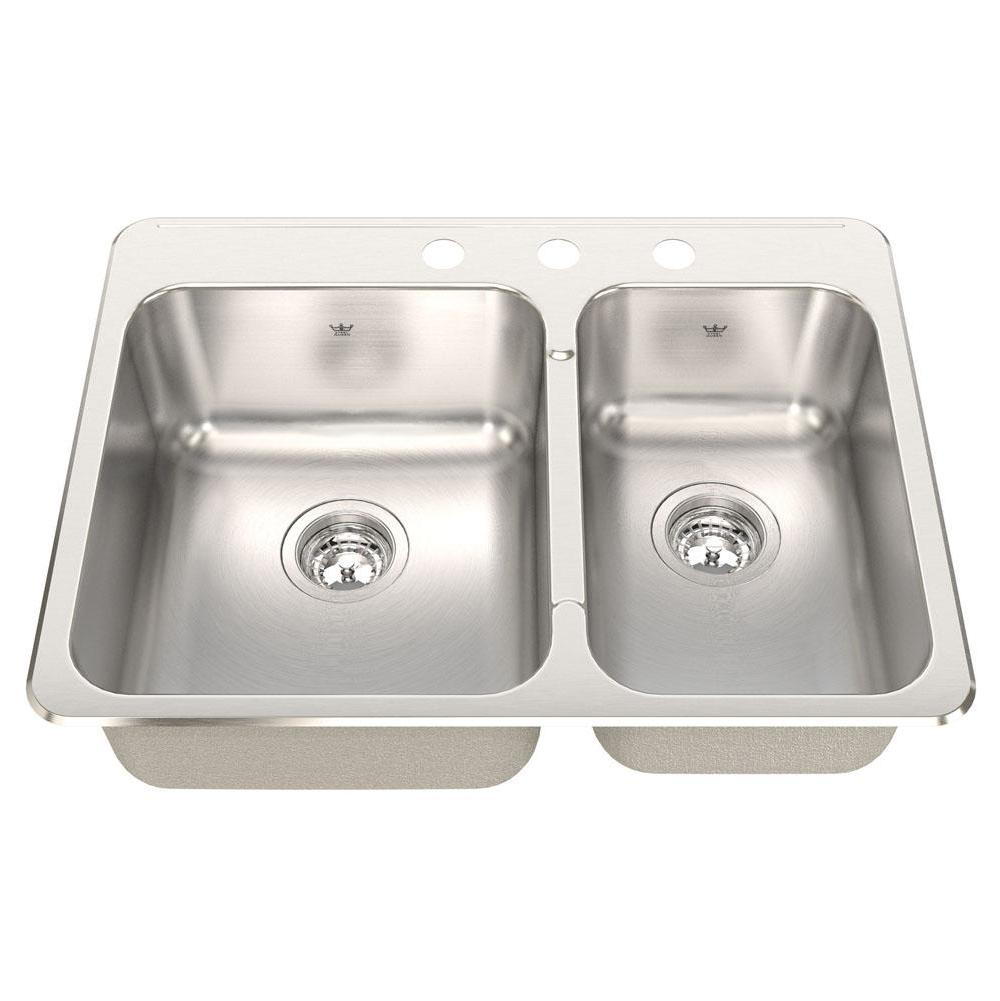 Kindred Canada Drop In Kitchen Sinks item CCLA2027R/8S/3