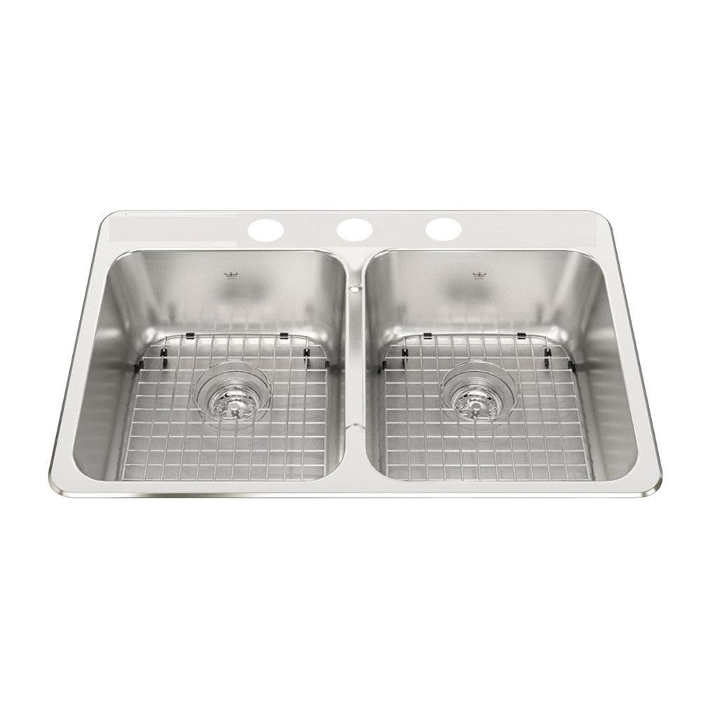 Kindred Canada Drop In Kitchen Sinks item CDLA2031/8S/3