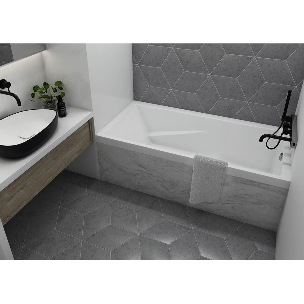 Mirolin Canada Three Wall Alcove Whirlpool Bathtubs item WB104R47