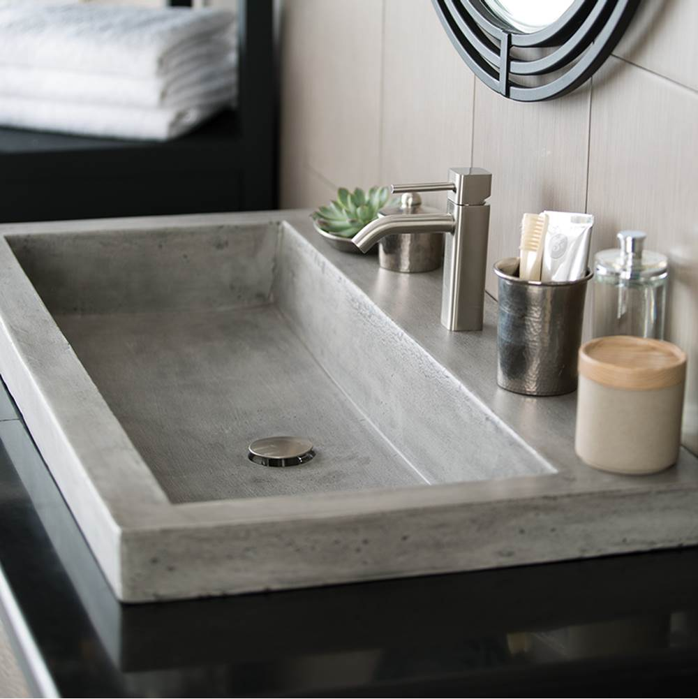bathroom sink. Native Trails - NSL3619-A Trough 3619 Bathroom Sink In Ash