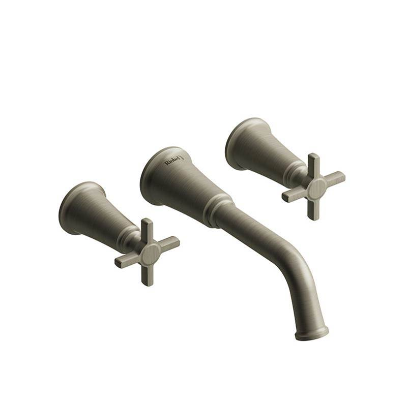 Riobel Wall Mounted Bathroom Sink Faucets item MMSQ03+BN-05