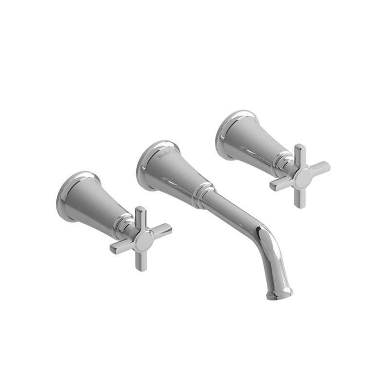 Riobel Wall Mounted Bathroom Sink Faucets item MMSQ03+BK-10