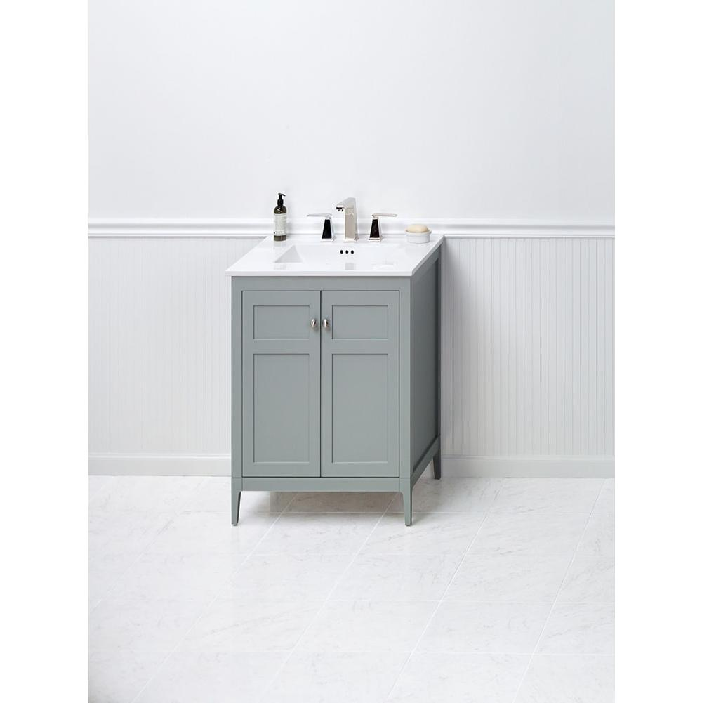 Bathroom vanities transitional solid colors the water for Bathroom cabinets kitchener