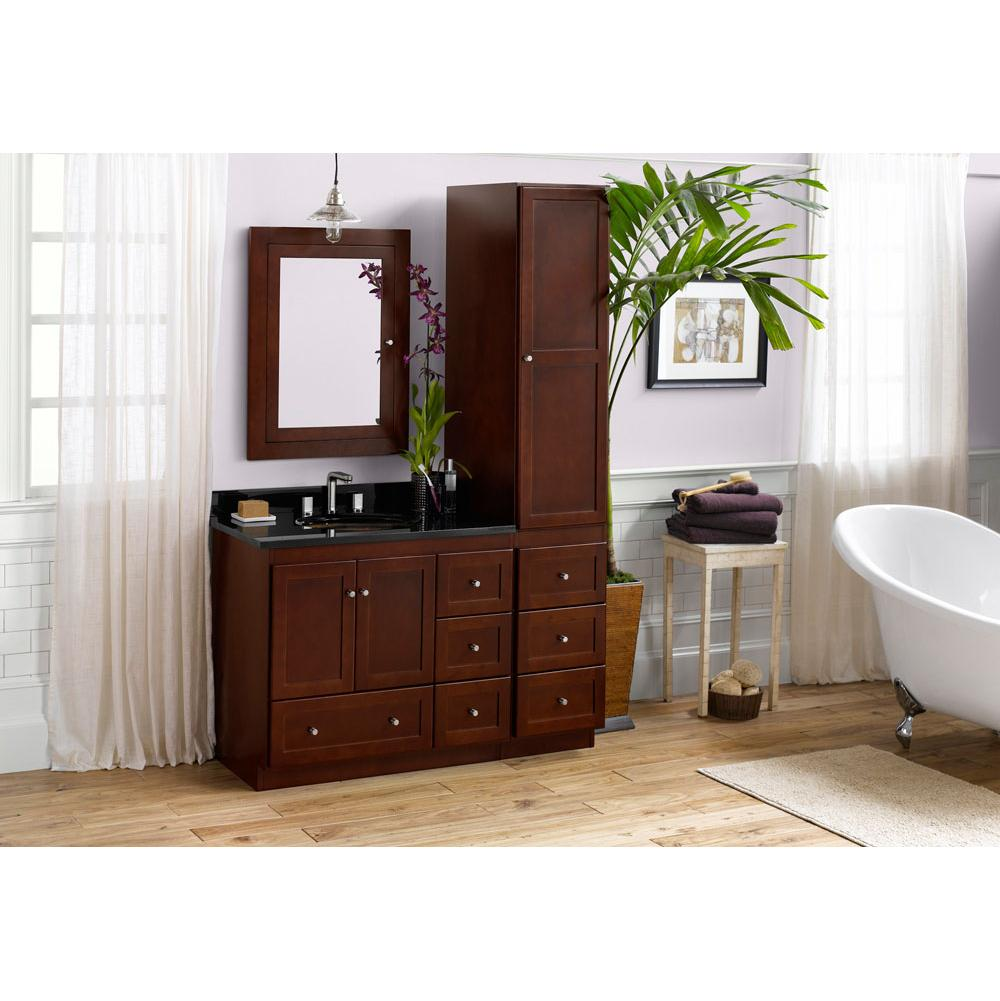 cabinets ideas vanities innovative brown sedwick furniture vanity cherry bathroom powerful cabinet desafiocincodias